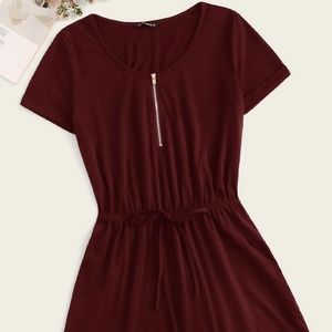 Burgundy Shorts Romper size Medium